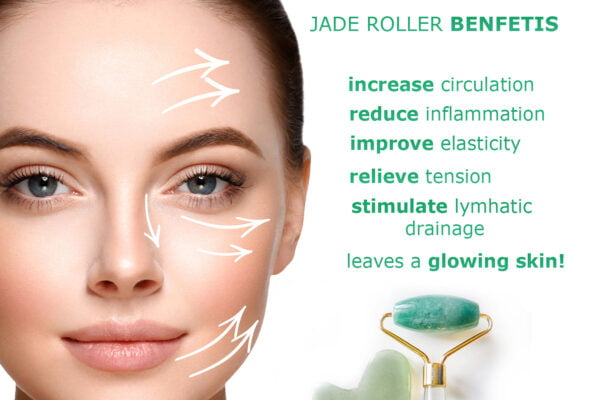 Jade roller benefits face stone