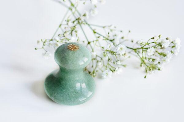 Gua sha mushroom massage green stone