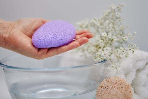 Lavender Konjac sponge 5
